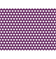 white hearts on purple background pattern vector image vector image