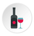 wine and glass icon circle vector image vector image