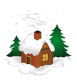 Winter scenery vector image vector image