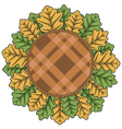with autumn leaves and plaid vector image vector image