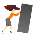 woman with block vector image vector image