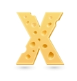 X cheese letter Symbol isolated on white vector image vector image
