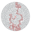 Abstract round maze of high complexity vector image