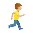 faceless young boy runs isolated vector image