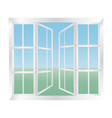 glazed windows icon vector image