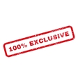 100 Percent Exclusive Text Rubber Stamp