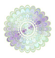 abstract floral mandala ornament design vector image vector image