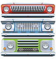 automobile front end vector image vector image