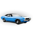 blue classic hot car vector image vector image