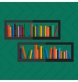 bookshelfon wall with books in vector image vector image