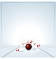 bowling strike ball vector image