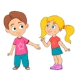 Boy and girl Funny teen characters vector image