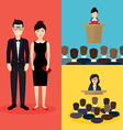 Business people Social Network and Social Media vector image