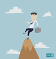 businessman risk on top vector image