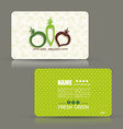 Card set eco design organic foods shop or vegan vector image vector image