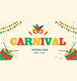 carnival advertising banner with copy space vector image
