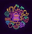 casino neon concept vector image vector image