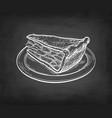 chalk sketch apple pie