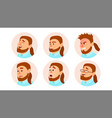 character business people avatar fat vector image vector image