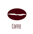 coffee bean icon simple flat vector image vector image