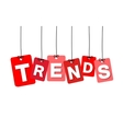 colorful hanging cardboard Tags - trends vector image vector image