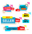 colorful sales banner on white background vector image vector image