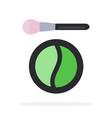 compact green eye shadow flat material design vector image vector image