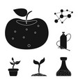 design of and icon set of and stock ve vector image vector image