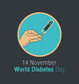 diabetes day concept world diabetes day banner vector image