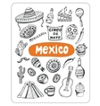 Doodle about Mexico vector image vector image