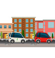 electric car charging scene vector image