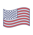 flag united states of america waving design color vector image vector image