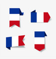 french flag stickers and labels vector image