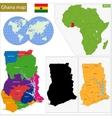 Ghana map vector image vector image