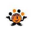 global communication logo design template vector image
