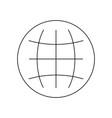 globe line black icon vector image vector image