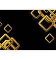 Golden squares on black background vector image vector image