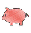 grated piggy with save money cash currency vector image vector image
