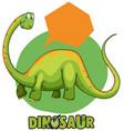 green brachiosaurus and speech bubble template vector image vector image