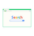 green cute browser window vector image vector image