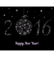 Happy New Year 2016 decoration vector image