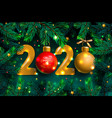 happy new year 2020 template holiday with vector image vector image