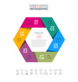 hexagon business infographics strategy design vector image vector image