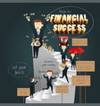 infographic of ways to financial success vector image vector image