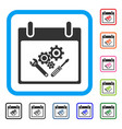instrument tools calendar day framed icon vector image vector image