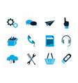 internet things collection icons blue style vector image