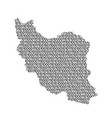 iran map abstract schematic from black ones and vector image vector image