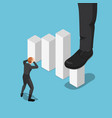 isometric big businessman foot stepping vector image
