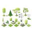 Isometric plants garden forest collection vector image vector image