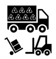 logistic delivery vector image vector image
